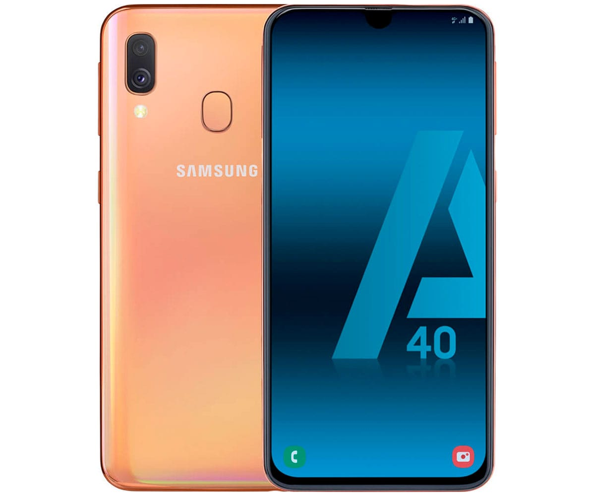 SAMSUNG GALAXY A40 NARANJA MÓVIL 4G DUAL SIM 5.9 SUPER AMOLED FHD+/8CORE/64GB/4GB RAM/16MP+5MP/25M - A40 A405 DS ORANGE