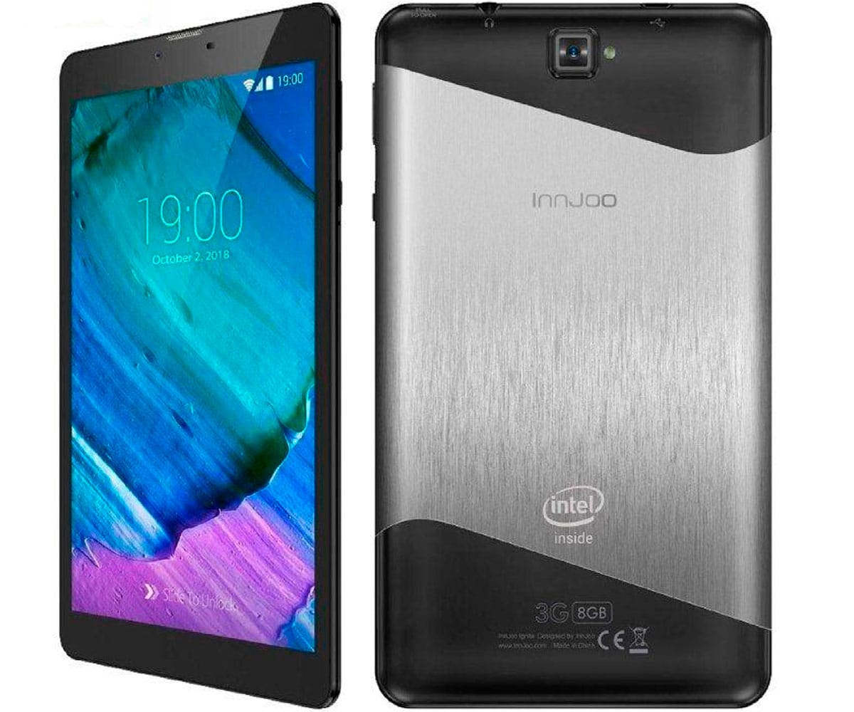 INNJOO IGNITE NEGRO Y PLATA TABLET 3G DUAL SIM 7'' IPS/4CORE/8GB/1GB RAM/5MP/2MP