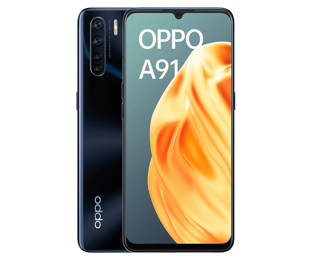 OPPO A91 NEGRO MÓVIL 4G DUAL SIM 6.4'' AMOLED FHD+ OCTACORE 128GB 8GB RAM QUADCAM 48MP SELFIES 16MP