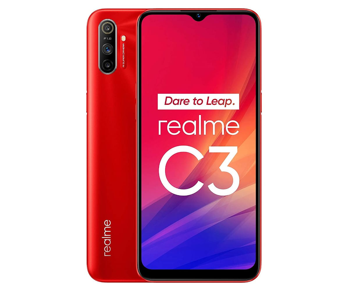 REALME C3 ROJO VIVO 4G DUAL SIM 6.5'' IPS HD+  OCTACORE 64GB 3GB RAM TRICAM 12MP SELFIES 5MP