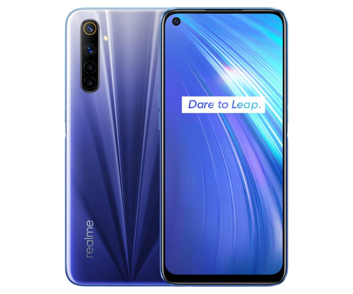 REALME 6 COMET BLUE 4G DUAL SIM 6.5'' 90Hz FullHD+ OCTACORE 128GB 8GB RAM QUADCAM 64MP SELFIES 16MP