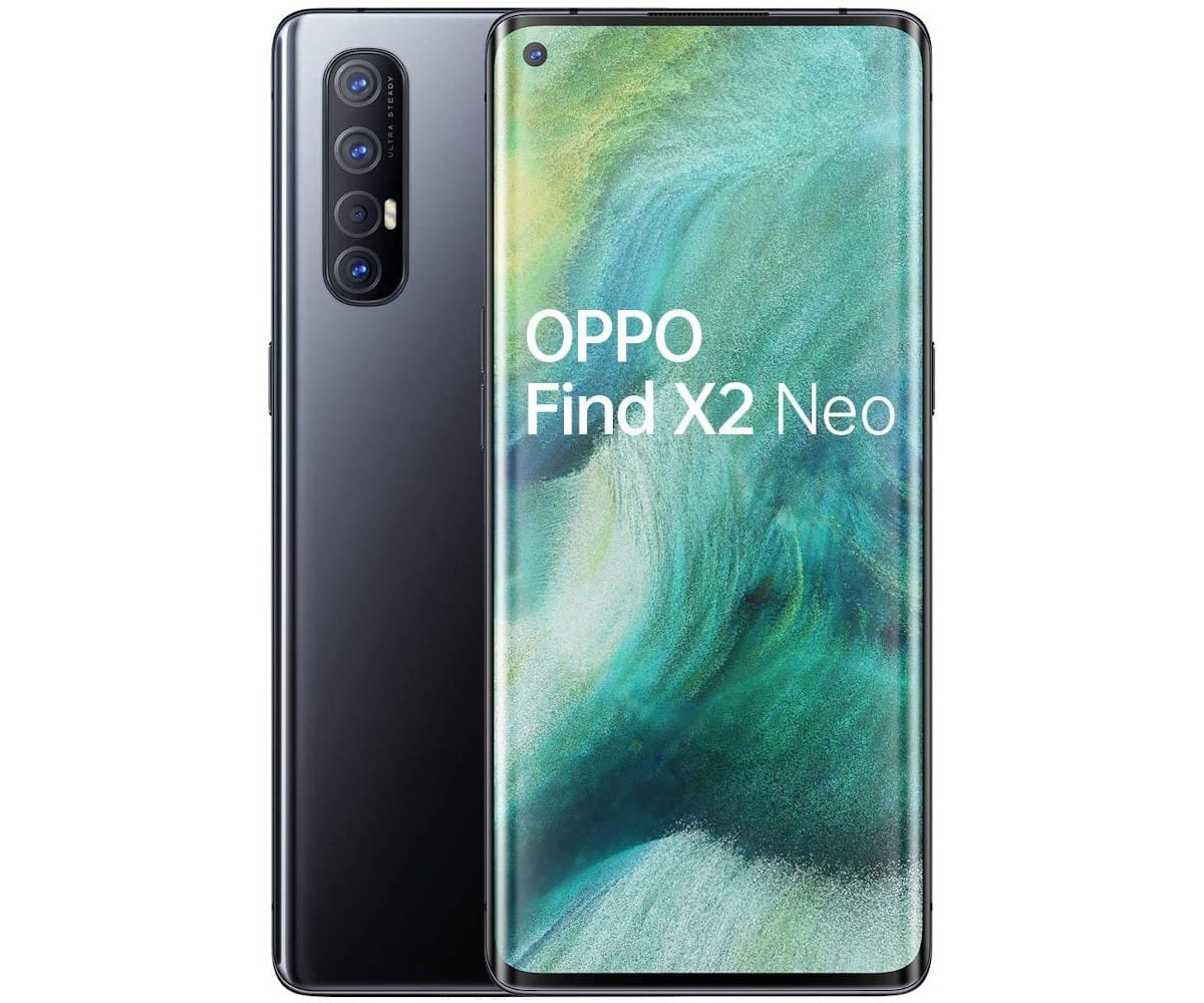 OPPO FIND X2 NEO MOONLIGHT BLACK MÓVIL 5G 6.5'' AMOLED 90Hz FHD+ OCTACORE 256GB 12GB RAM QUADCAM 48MP SELFIES 32MP