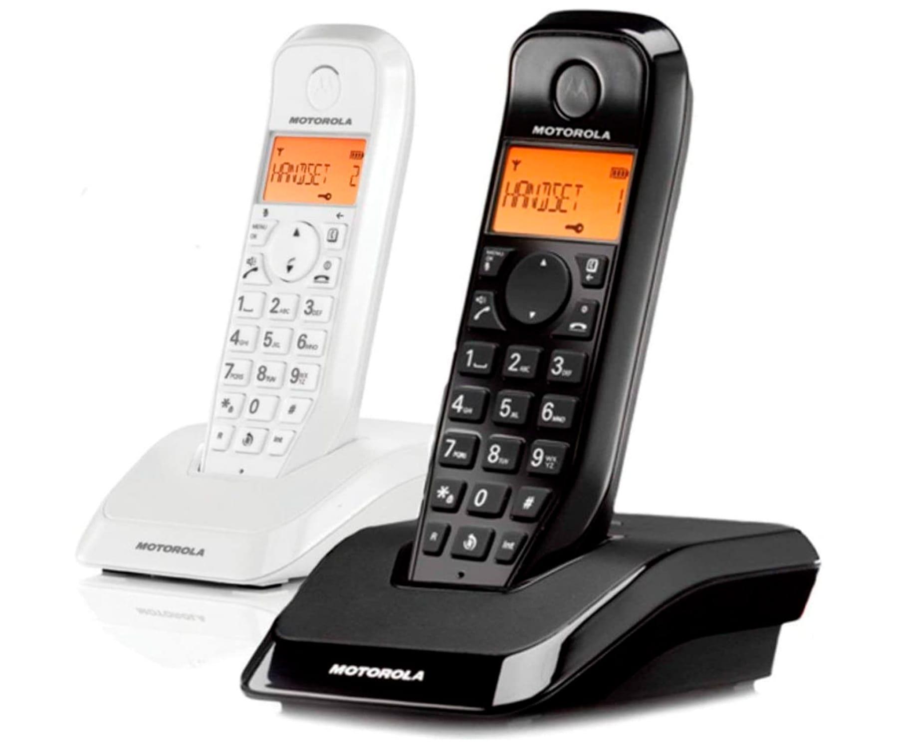 MOTOROLA S1202 NEGRO/BLANCO DUO TELÉFONO INALÁMBRICO - S1202 DUO