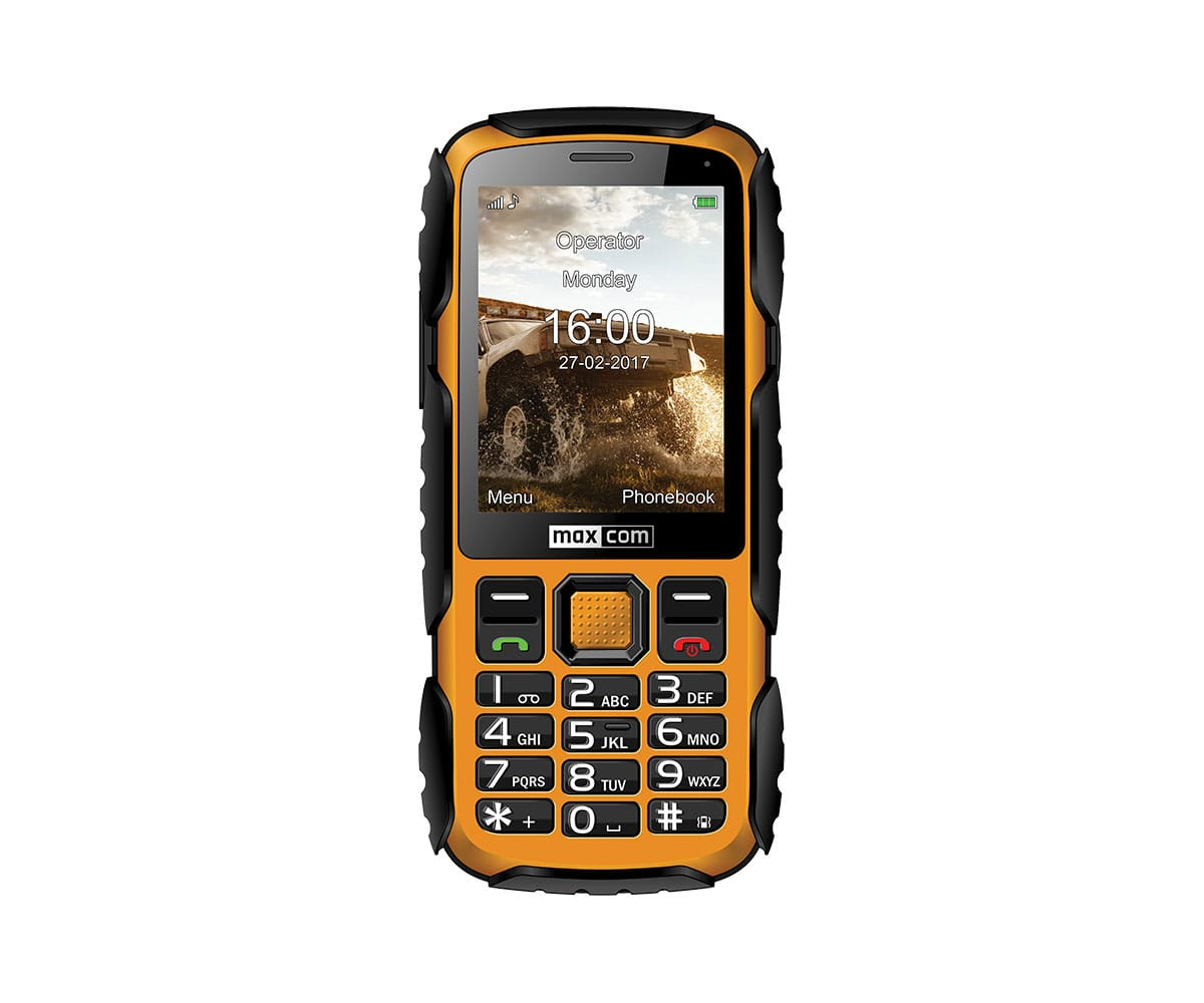 MAXCOM MM920 AMARILLO MÓVIL RESISTENTE CON CÁMARA Y BLUETOOTH - MM920 AMARILLO