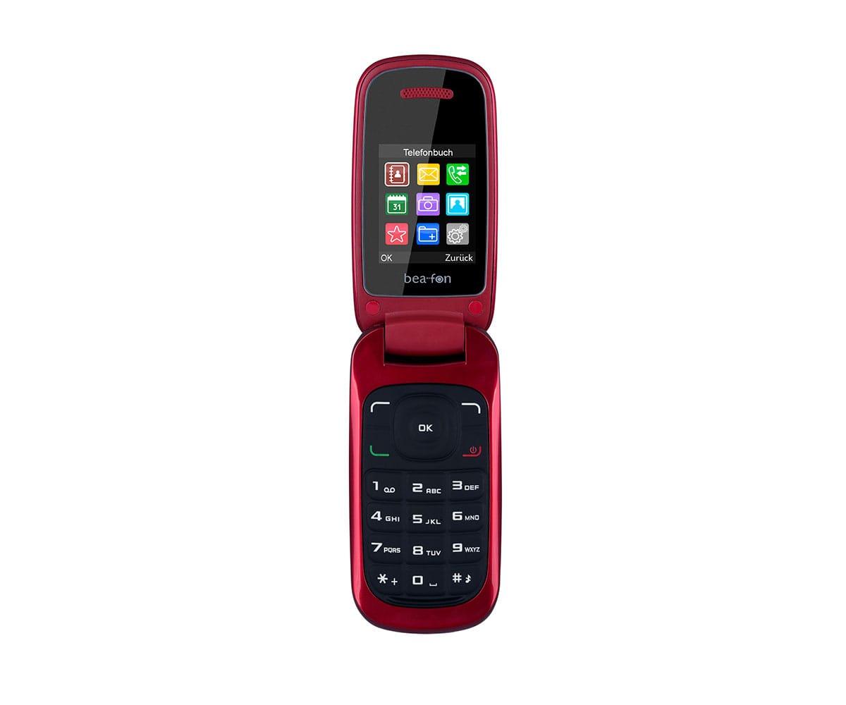 BEAFON C200 ROJO TELÉFONO MÓVIL DUAL SIM SENIOR CON TAPA 1.77 CÁMARA DE FOTOS -