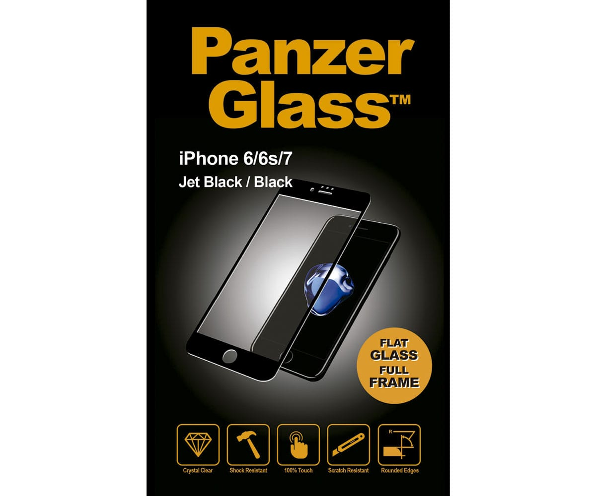 PANZERGLASS PROTECTOR CRISTAL ULTRARESISTENTE IPHONE 7/8 MARCO CROMADO NEGRO - P183200