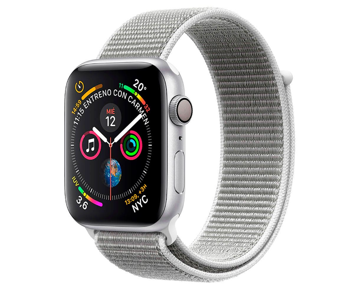APPLE WATCH SERIES 4 NIKE+ PLATA CON CORREA SPORT BLANCO POLAR RELOJ 40MM SMARTWATCH 16GB WIFI BLUET - S4 MU7F2TY/A 40MM NIKE+