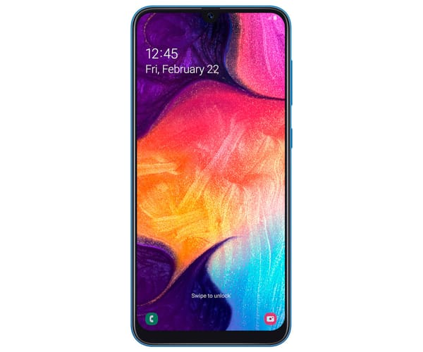 SAMSUNG GALAXY A50 AZUL MÓVIL 4G DUAL SIM 6.4'' SUPER AMOLED FHD+/8CORE/128GB/4GB RAM/25MP+5MP+8MP/25MP