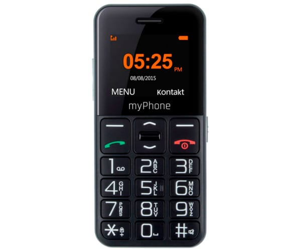 MYPHONE HALO EASY NEGRO MÓVIL SENIOR 1.77'' CÁMARA VGA BLUETOOTH