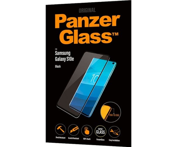 PANZERGLASS PROTECTOR DE CRISTAL SAMSUNG GALAXY S10e FINGERPRINT CASE FRIENDLY NEGRO