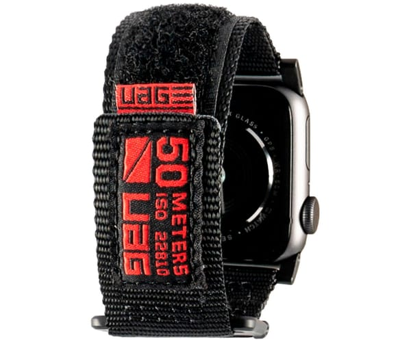 UAG ACTIVE BAND NEGRA CORREA PARA APPLE SMARTWATCH SERIE 1 A 4 TAMAÑO 44/42