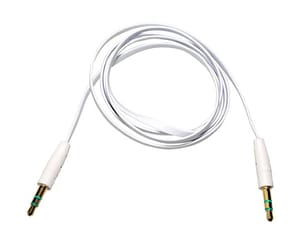 AKASHI CABLE AUDIO JACK 3,5 1M BLANCO