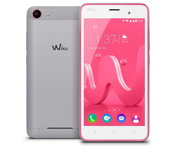 WIKO JERRY ROSA/GRIS MÓVIL DUAL SIM 5'' IPS/4CORE/8GB/1GB RAM/5MP/2MP