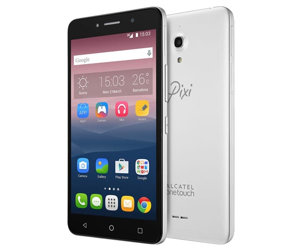 ALCATEL PIXI 4 (6) GRIS METÁLICO 8050 MÓVIL 6'' IPS/4CORE/8GB/1GB RAM/8MP/5MP