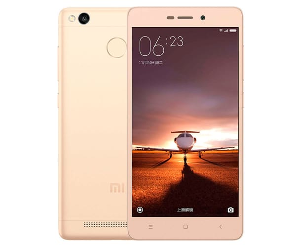 XIAOMI REDMI 3S (16+2) DORADO MÓVIL 4G DUAL SIM 5'' IPS/8CORE/16GB/2GB RAM/13MP/5MP