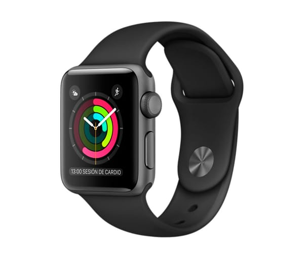 APPLE WATCH SERIES 2 38mm GRIS ESPACIAL/NEGRO MP0D2QL/A SMARTWATCH CON GPS RESISTENTE AL AGUA