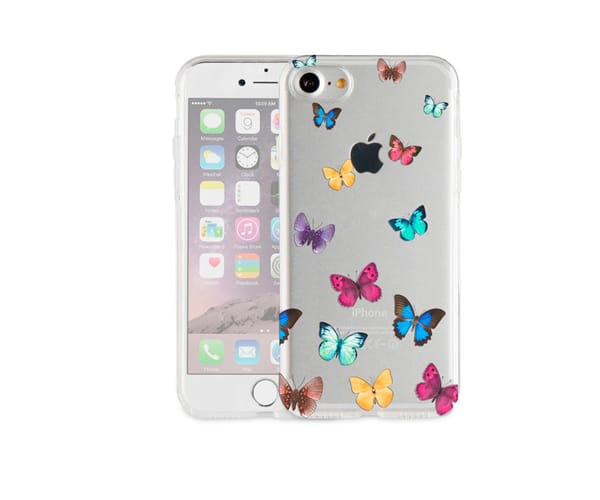 AKASHI MARIPOSAS CARCASA TRANSPARENTE IPHONE 7 PLUS