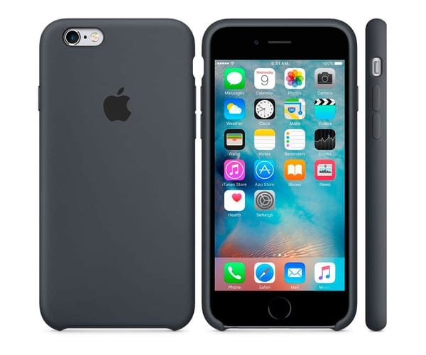 APPLE MKY02ZM/A GRIS CARBÓN CARCASA DE SILICONA IPHONE 6S/6