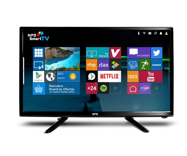 NPG 400DL24F TELEVISOR 24'' FULL HD SMART TV CON ANDROID Y WIFI INTEGRADO