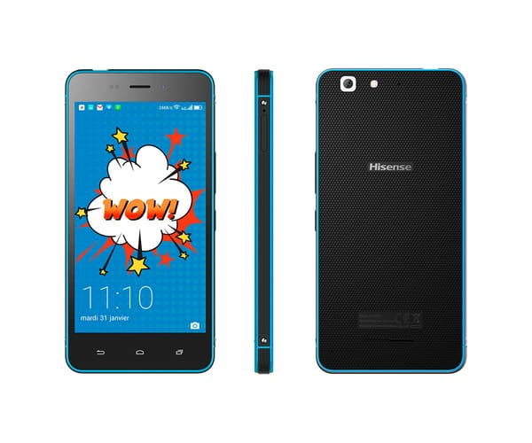 HISENSE C30 ROCK LITE AZUL MÓVIL 4G DUAL SIM 5'' IPS/4CORE/16GB/2GB RAM/8MP/5MP