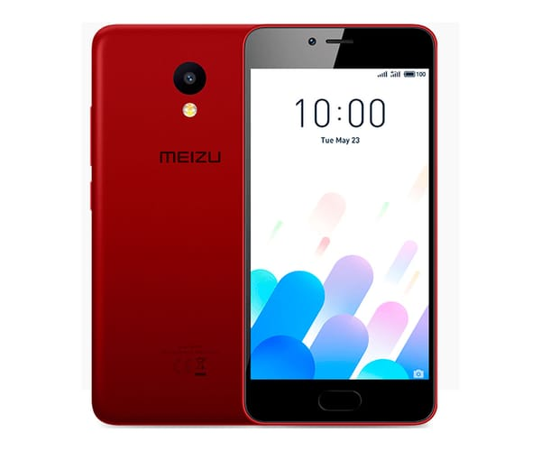 MEIZU M5C ROJO MÓVIL 4G DUAL SIM 5'' IPS HD/4CORE/16GB/2GB RAM/8MP/5MP