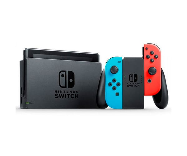 NINTENDO SWITCH AZUL ROJO NEÓN CONSOLA 6.2'' 32GB TRANSMISIÓN TV WIFI BLUETOOTH CONTROLES JOY-CON