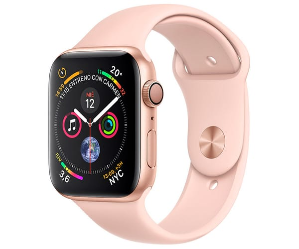 APPLE WATCH SERIES 4 ORO CON CORREA DEPORTIVA ROSA RELOJ 44MM SMARTWATCH 16GB WIFI BLUETOOTH GPS PANTALLA OLED