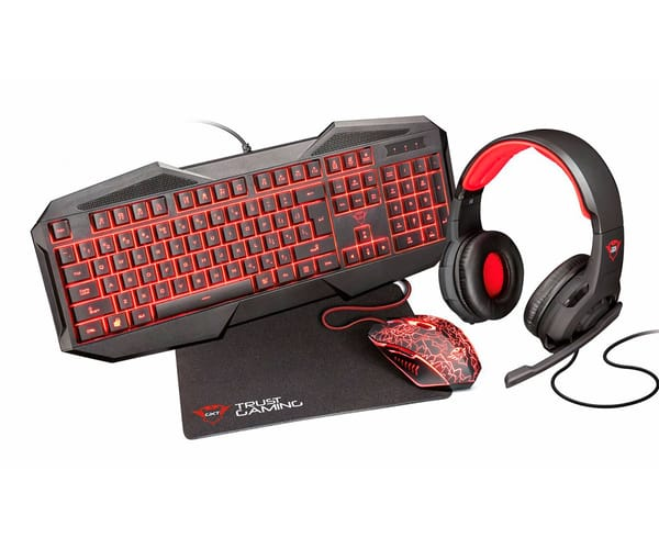 TRUST GXT 788 4-IN-1 GAMING BUNDLE NEGRO EQUIPO GAMING PARA PC