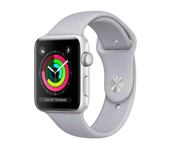 APPLE WATCH SERIES 3 PLATA 38mm SMARTWATCH CON GPS WIFI BLUETOOTH ASISTENTE VIRTUAL SIRI Y RESISTENTE AL AGUA