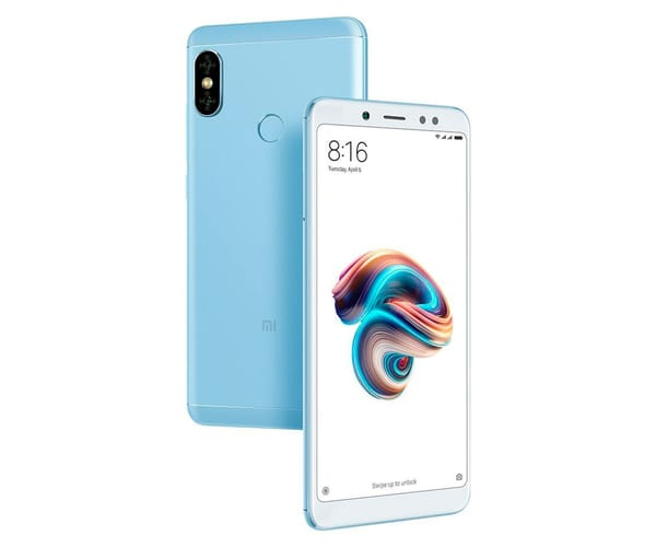 XIAOMI REDMI NOTE 5 AZUL 4G DUAL SIM 5.99'' IPS FHD+/8CORE/64GB/4GB RAM/12MP+5MP/13MP