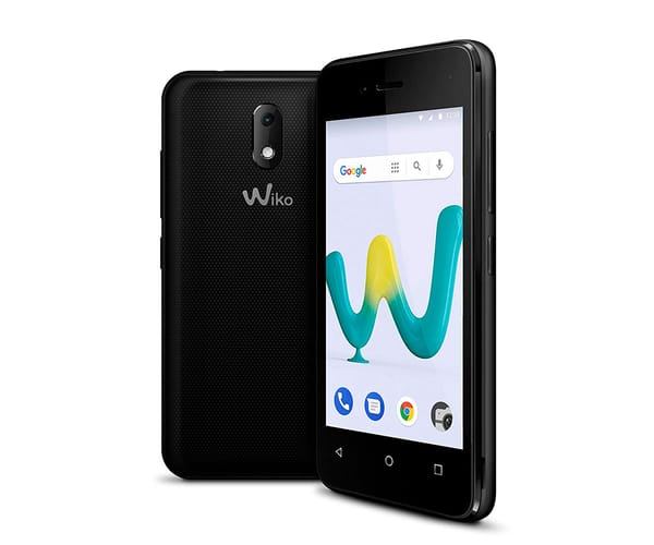 WIKO SUNNY3 MINI NEGRO MÓVIL 3G DUAL SIM 4'' TFT WVGA/4CORE/8GB/512MB RAM/2MP/VGA