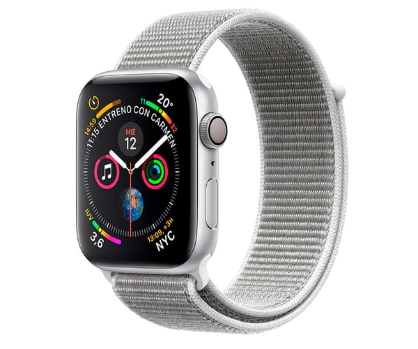 APPLE WATCH SERIES 4 NIKE+ PLATA CON CORREA SPORT BLANCO POLAR RELOJ 40MM SMARTWATCH 16GB WIFI BLUETOOTH GPS PANTALLA OLED