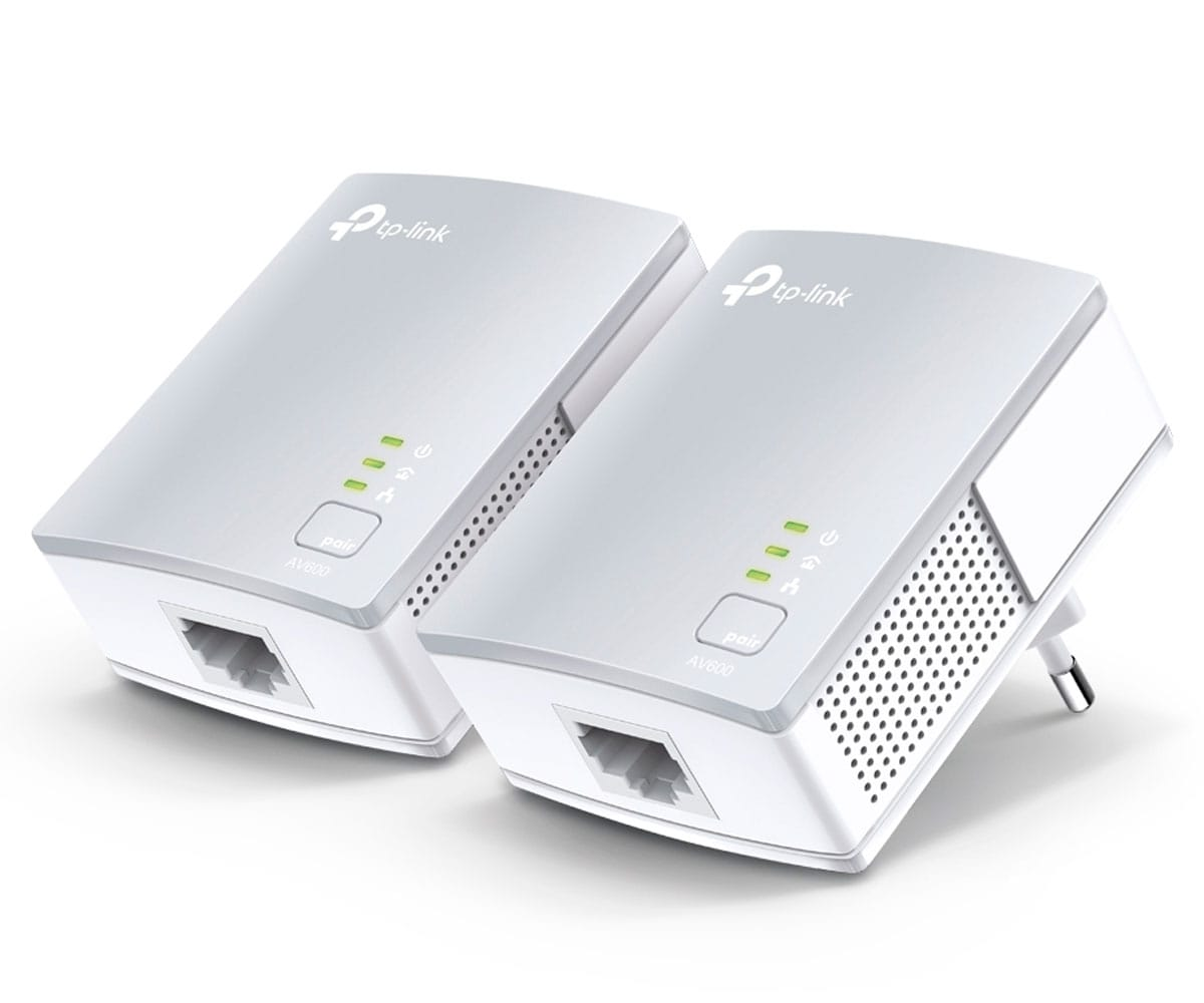TP-LINK TL-PA411 KIT ADAPTADOR POWERLINE AV600 PLC HASTA 600MBPS POR LA RED ELÉCTRICA