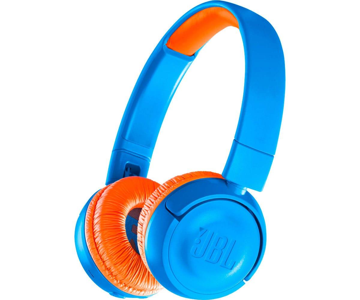 JBL JR 300 BT AZUL/NARANJA AURICULARES KIDS ON-EAR INALÁMBRICOS SAFE-SOUND DISEÑADOS PARA NIÑOS
