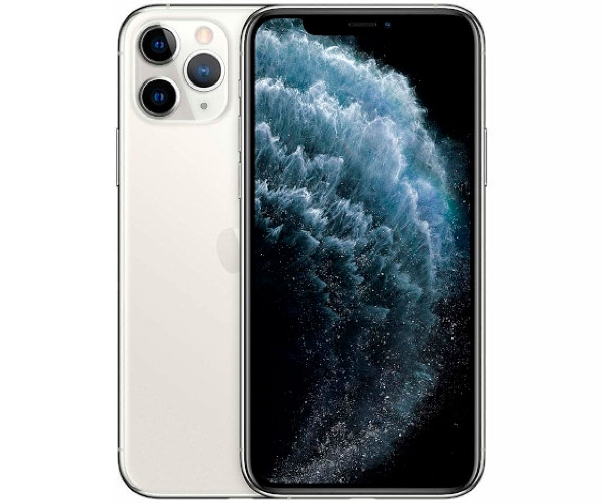 APPLE IPHONE 11 PRO PLATA MÓVIL DUAL SIM 4G 5.8'' SUPER RETINA XDR CPU A13/256GB/4GB RAM/12+12+12MP/12MP