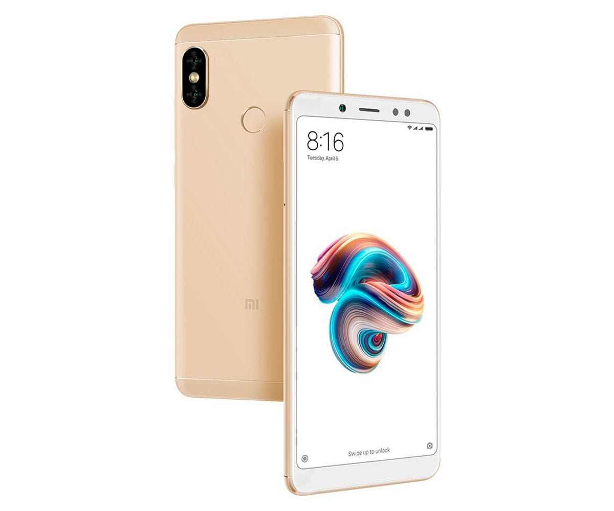 XIAOMI REDMI NOTE 5 DORADO 4G DUAL SIM 5.99'' IPS FHD+/8CORE/64GB/4GB RAM/12MP+5MP/13MP