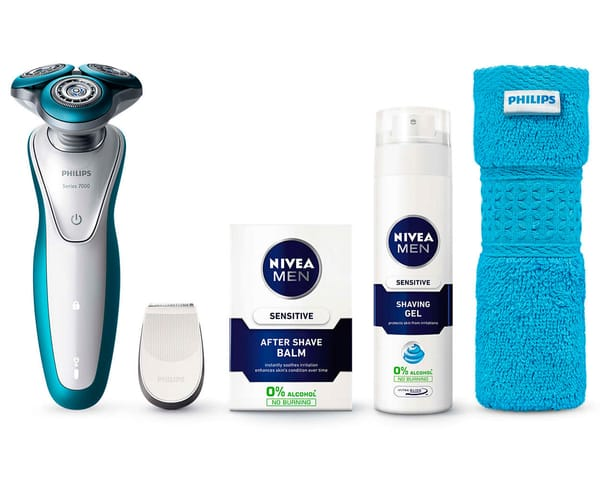 PHILIPS SHAVER SERIES 7000 AFEITADORA ELÉCTRICA GENTLEPRECISION PRO CON ACCESORIOS DE AFEITADO NIVEA FOR MEN