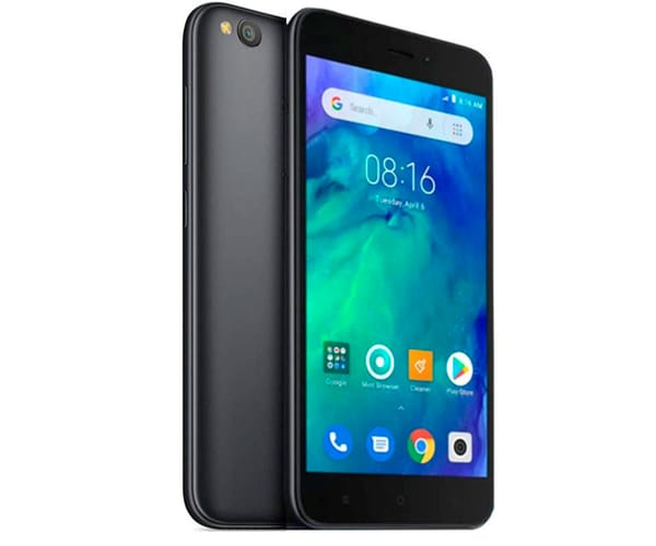 XIAOMI REDMI GO NEGRO MÓVIL 4G DUAL SIM 5'' IPS HD/4CORE/8GB/1GB RAM/8MP/5MP