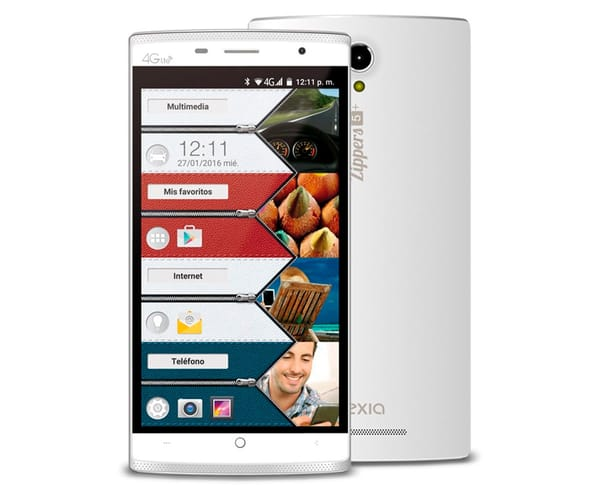 VEXIA ZIPPERS 5 PLUS VXM320 BLANCO MÓVIL 4G DUAL SIM 5.5'' IPS HD/4CORE/16GB/2GB RAM/8MP/5MP