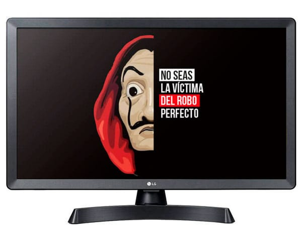 LG 28TL510S-PZ NEGRO TELEVISOR MONITOR 28'' LCD LED HD SMART TV HDMI USB 8ms LAN WIFI COMPONENTES COMPUESTA ÓPTICA