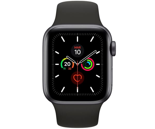 APPLE WATCH SERIES 5 GRIS ESPACIAL CON CORREA DEPORTIVA NEGRA RELOJ 44MM SMARTWATCH 32GB WIFI BLUETOOTH GPS