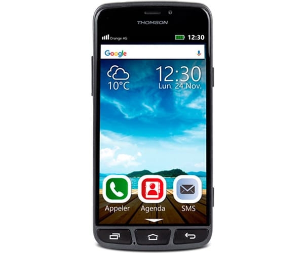 THOMSON SEREA 500 NEGRO MÓVIL 4G 5.0'' TFT IPS HD/4CORE/8GB/1GB RAM/8MP/5MP BLUETOOTH GPS