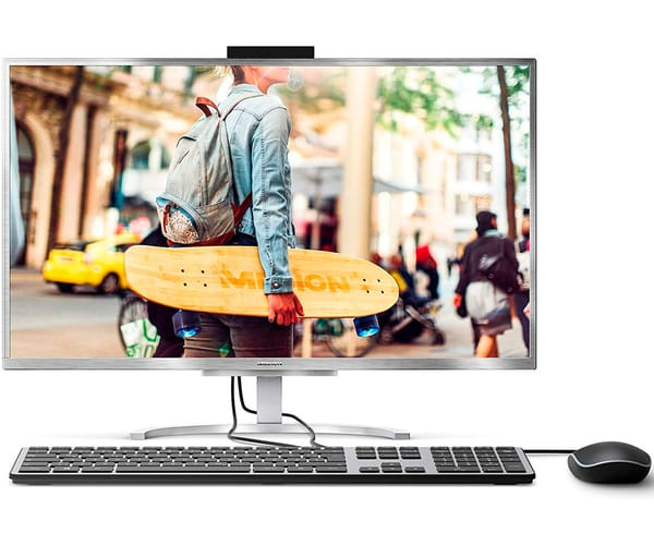 MEDION E23401 PLATA PC ALL-IN-ONE 23.8'' LCD IPS FHD i5-8250U/1TB/8GB RAM/W10 HOME