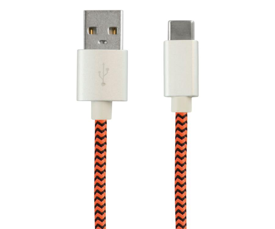 KSIX BXCUCTNJ NARANJA SPORT CABLE USB-C A USB 1 METRO 2.4A