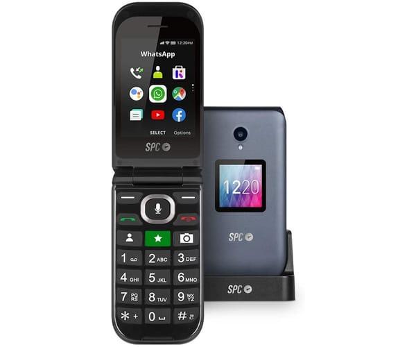 SPC 2316N JASPER BLACK TELÉFONO MÓVIL SENIOR DUAL SIM 4G CON WHATSAPP