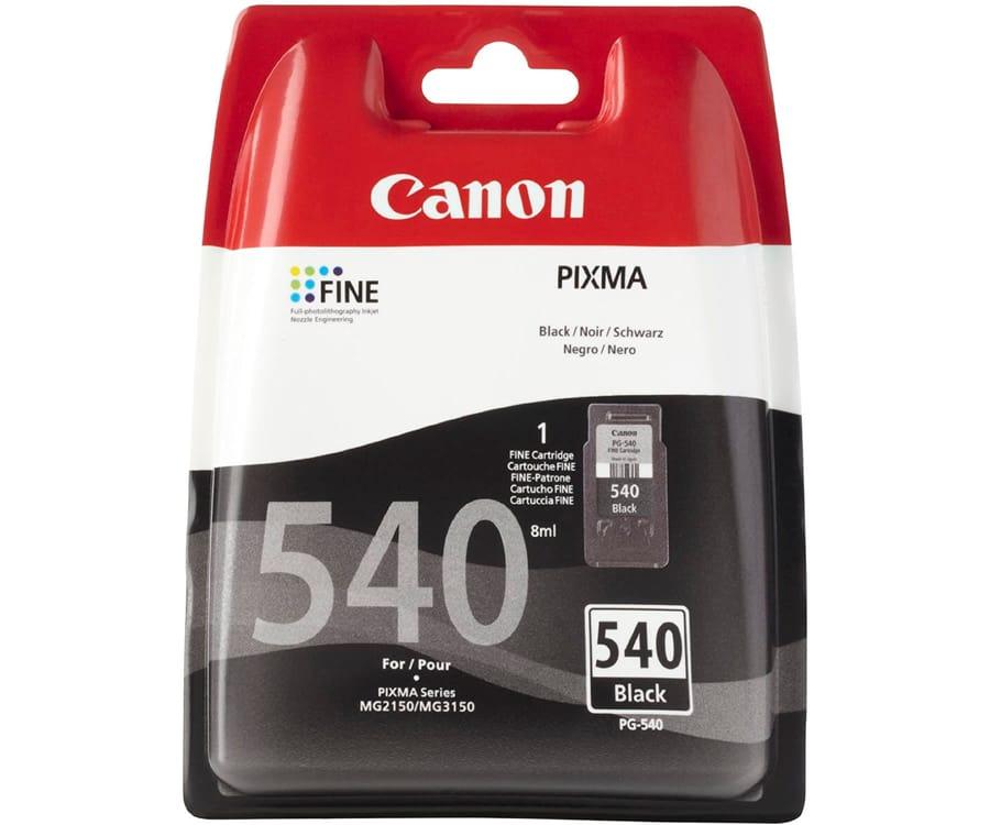 CANON PG-540 COLOR NEGRO CARTUCHO DE TINTA 8ml FINE PIXMA
