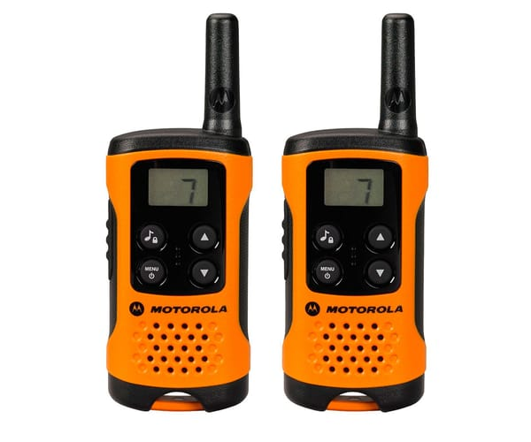 MOTOROLA TLKR T41 WALKIE TALKIES 4KM NARANJAS