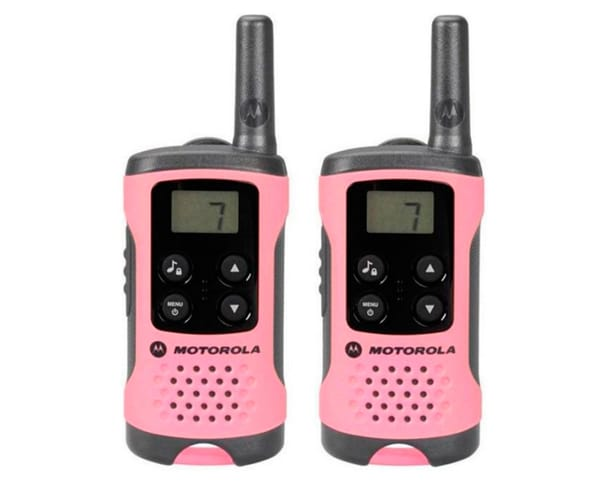 MOTOROLA TLKR T41 WALKIE TALKIES 4KM ROSA