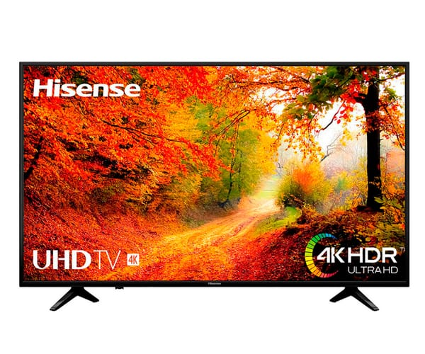 HISENSE H43A6140 TELEVISOR 43'' LCD DIRECT LED UHD 4K HDR SMART TV WIFI LAN HDMI USB REPRODUCTOR MULTIMEDIA