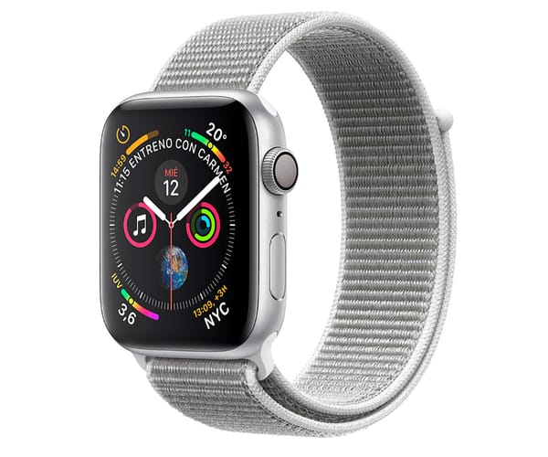 APPLE WATCH SERIES 4 PLATA CON CORREA LOOP GRIS RELOJ 40MM SMARTWATCH 16GB WIFI BLUETOOTH GPS PANTALLA OLED